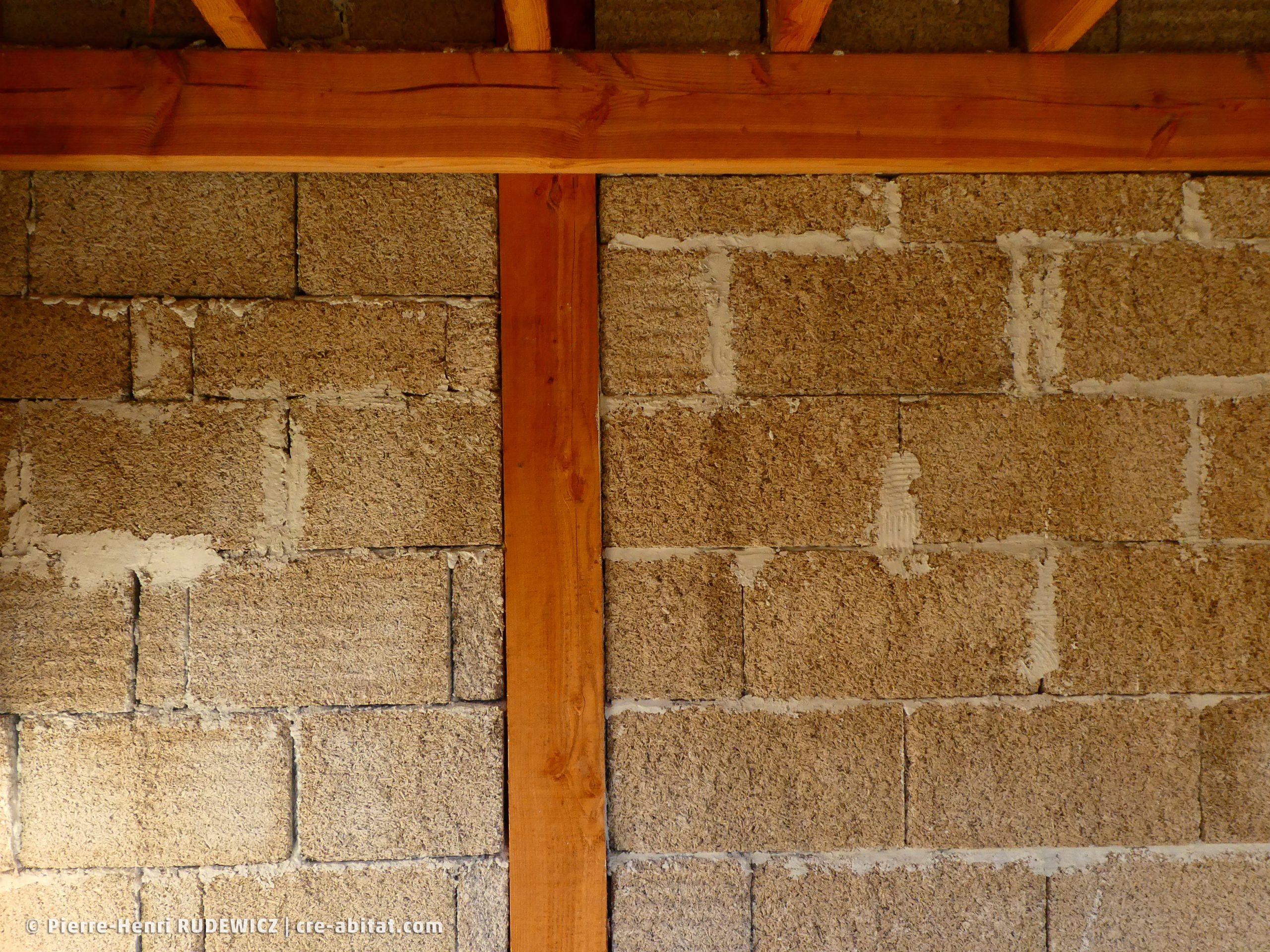 Maison individuelle - Détail brique de chanvre
