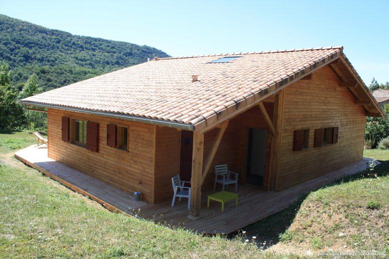 Maison Individuelle Ossature bois - Vue extérieure côté route