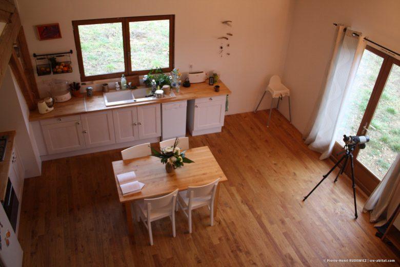 Maison Individuelle Ossature bois - Vue intérieure côté cuisine