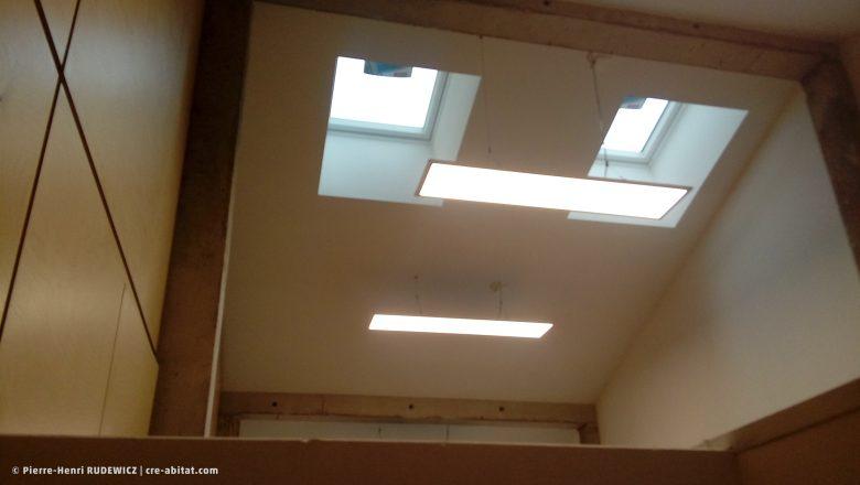 Salle Communale - Plafond et éclairage