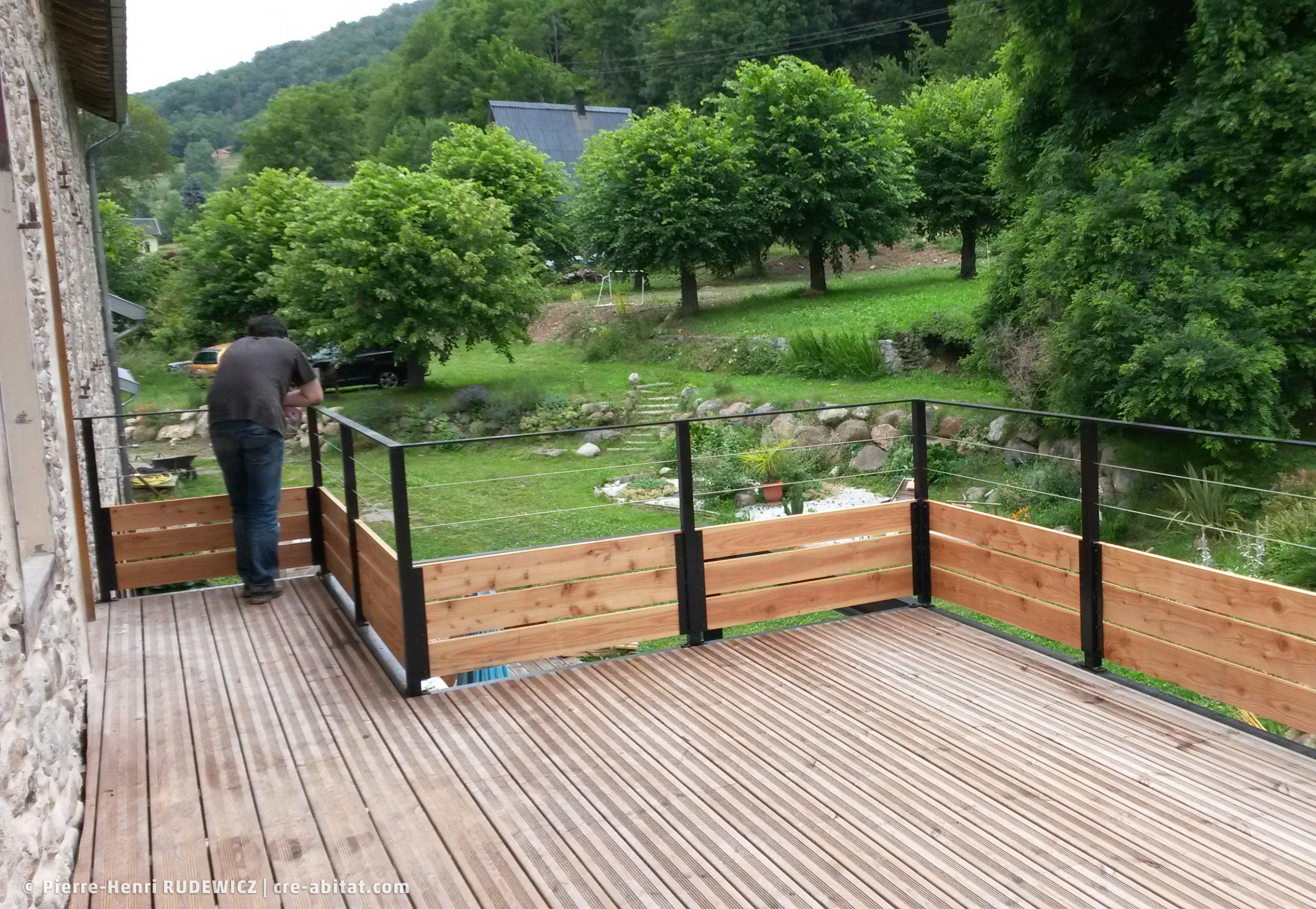 Terrasse en bois structure métal - Planché bois